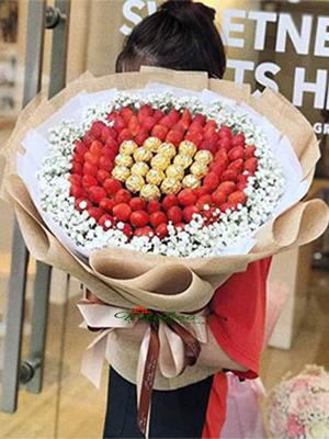 Bó hoa dâu tây socola VT-011