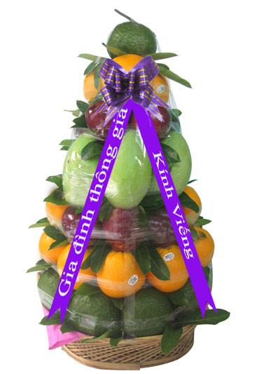 Giỏ trái cây viếng đám tang-thành kính phân ưu